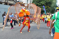 DSC_0310 (AngelasTravels) Tags: show costumes england people music london beautiful children freedom community women colours message dancing skin body traditions parade cameras displays caribbean nottinghillcarnival floats peoplewatching opportunities extrovert photoshots