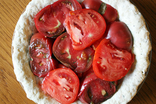 tomatoes in the pie.