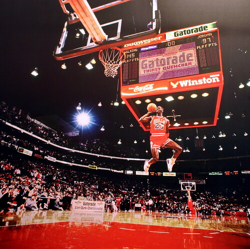 Michael Jordan, Slamdunk Contest, Chicago, IL - 1988