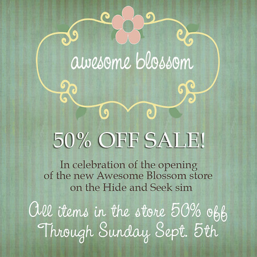 50% off sale at Awesome Blossom