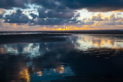 We Have Heaven (ImagesByLizzie) Tags: sunset beach terschelling wadden 235 refelections explored galleryoffinephotography