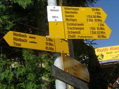 Wegweiser Hnibach ( BE - 595m - Standorttafel Berner Wanderwege ) bei ... im Berner Oberland im Kanton Bern der Schweiz (chrchr_75) Tags: del schweiz switzerland site suisse map hiking swiss plan du trail bern christoph svizzera mappa berne wandern berner chemin sito 1009 weg berna hikingtrail wanderung tafel wanderweg berneroberland oberland wegweiser suissa markierung standort kanton chrigu wanderwege kantonbern brn wanderwegweiser chrchr hurni chrchr75 chriguhurni wanderwegmarkierung bernerwanderwege standorttafel sidkarta sivustokartta albumstandorttafelsammlung albumbernerwegweiser pedstre wegzeit hurni100903