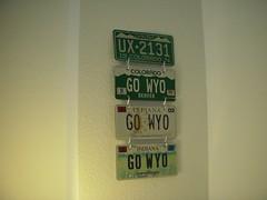 Colorado and Indiana license plates