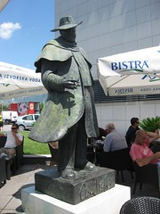 Statue of Orson Wells outside of Joker Mall in Split (marilyn_cvitanic) Tags: film croatia movies split dalmatian hrvatska orsonwells cvitanic