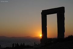 Portara - Naxos - 2 (Ben Heine) Tags: ocean door trip travel sunset sea summer wallpaper mist mountains hot history monument silhouette fog stone architecture composition relax fire photography gold freedom golden evening solar holidays warm heaven waves geometry pierre united horizon hill illumination greece enjoy porte imaging unreal past difice rectangle mythology grce zon brightness aura cyclades feu backlighting coucherdesoleil vibration antiquity waterscape ignite clart apollon vestige chaleur aegeansea portara theartistery marblegate benheine quietsea naxosport enflame mer samsungnx10 ege geologicalcaldera islandofpalatia tyrantlygdamis