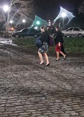 Tacos y empedrado (carlos_ar2000) Tags: street sexy argentina girl beauty night noche calle mujer buenosaires pretty chica streetlamp gorgeous ghost tacos cobbled linda recoleta bella farol fantasma elegance hells empedrado elegancia womna