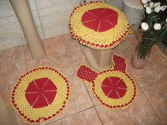JOGO DE BANHEIRO EM CROCHE (marcinha croche) Tags: de em jogo banheiro croche