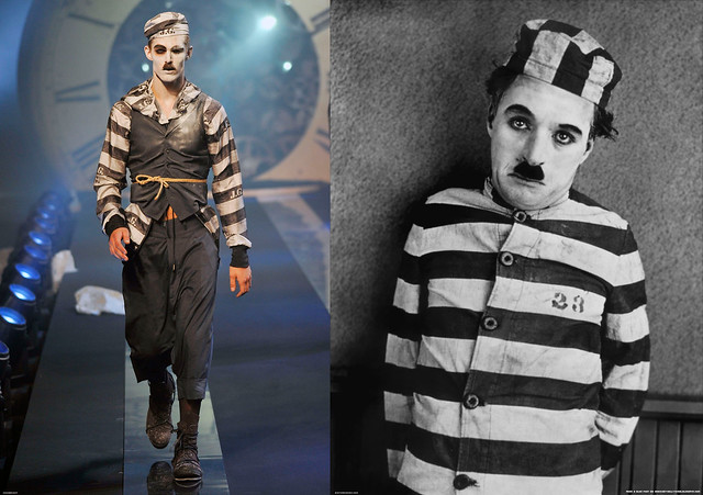 "Galliano's Menswear SS 2011 vs. Charlie Chaplin in ""The Adventurer"""
