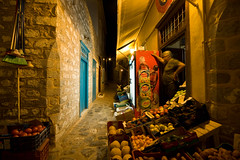 The Shop Round the Corner (ashwini tank) Tags: old travel cruise sea summer vacation cats sun cheese stairs port island foot coast ancient europe mediterranean rich donkey lifestyle hills greece olives mythology hydra hopping feta