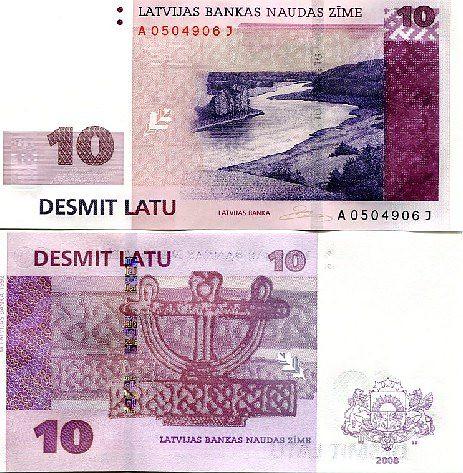 20 Lati Lotyšsko 2008