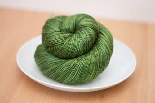 "Eclair Silk Sock in ""Verdant"""