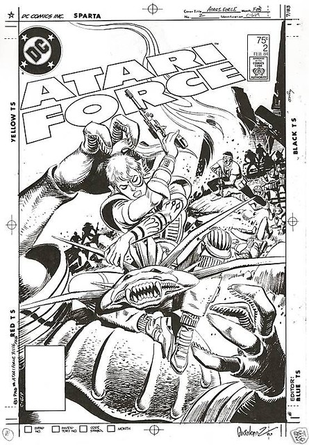 Atari Force 2 original cover by José Luis García-López