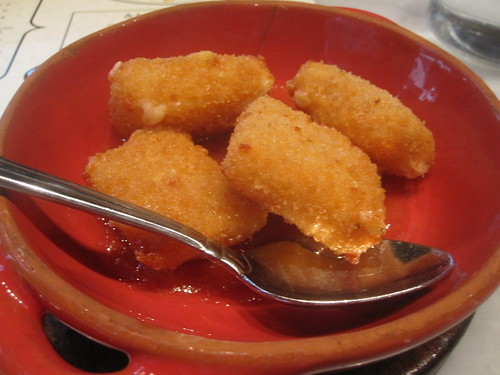 Fried manchego with membrillo vinaigrette at The Purple Pig
