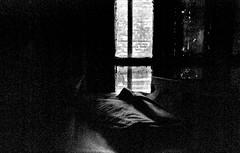 (ClaWeD One) Tags: light blackandwhite bw stilllife texture window monochrome bar vintage nikon gloomy sad low grain kitlens indoors nostalgia oldphoto athome grainy melancholy emptiness underexposed lightstreak clawed filmy melancholia darkday filmlike fakefilm nikkor1855 nikon1855 nikond40x d40x lightfromawindow pseudofilm stilllifeinblackandwhite notextureadded coarsegrain lightcave clawedone wheredarknesslooms lightthroughthebars shotinavavilablelight lasttimewheniwashome