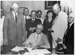 Franklin Roosevelt Signing the Social Security Bill