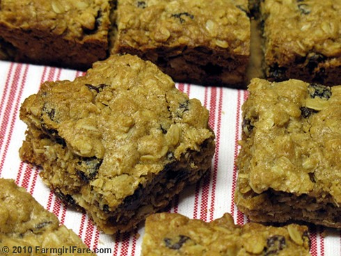 Whole Grain Oatmeal Raisin Cookie Bars 1