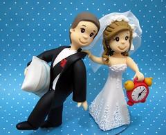 Wedding Cake Top (Biscuikis) Tags: brasil riodejaneiro travesseiro vasco despertador niteroi relogio noivinhos crisdias biscuikis