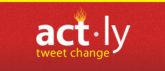 act.ly logo: tweet change