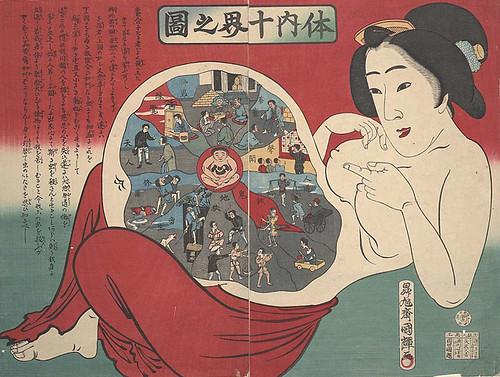 Afiches médicos japoneses del siglo 19