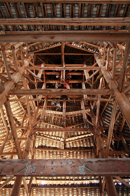 Inside of the drum tower, Chengyang, Guangxi, China
