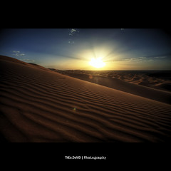 Lines Of Sunset (Feo David) Tags: blue light sunset sky cloud sun mountain black clouds montagne canon dark eos sand long exposure view desert south dune beam ciel morocco maroc 5d rays afrique merzouga