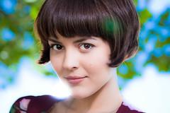 Azamelie (EXPLORED #58) (morgandemeter.com) Tags: woman beautiful eyes colours bokeh gorgeous clean lates strobist