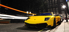 Lamborghini LP670-4 SuperVeloce (Laurens Grim) Tags: yellow night speed photography nikon grim engine arab rims laurens lamborghini supercar sv spoiler 2010 horsepower londen 18105 d90 superveloce lp6704