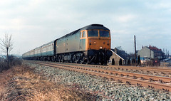 47521,Featherstone (56074 Kellingley Colliery) Tags: from this was march day with cross sunday away gateshead via 2nd another typical 1986 storms filthy gd featherstone 1037 condition diversions 0945 knottingley 47521 leedskings