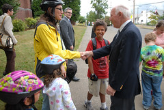 Rep. Jim Oberstar visits Beach Elementary School -17