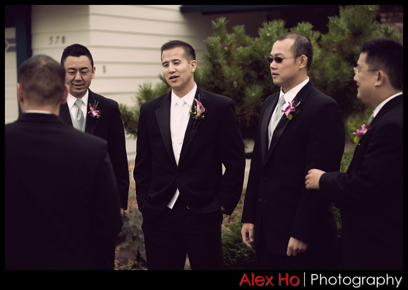 groom and the groomsmen and gene higa