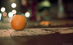 Two Oranges from the Rotten Apple (Gilmatic) Tags: new york city italy film 35mm 50mm nikon little kodak f14 f100 epson oranges v600 nikkor portra 160nc afd