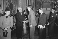 Vice President Truman Congratulates STS 1945 Finalists (Society for Science & the Public (SSP)) Tags: dc washington 1945 ssp sts societyforsciencethepublic