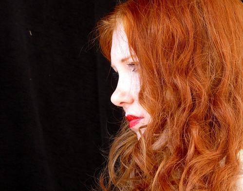 フリー写真素材, 人物, 女性, 横顔,