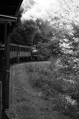 Steam engine (blossomdawes) Tags: bw train engine steam wv locamotive cassscenicrailway