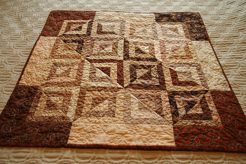 taupe quilt