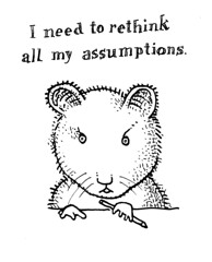Rethink assumptions (Don Moyer) Tags: moleskine ink notebook rodent sketch drawing think doodle moyer assumption rethink donmoyer