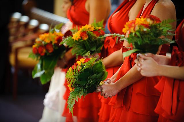 Laura and Elvis's Wedding-Bridesmaids' bouquets