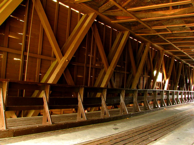Doe River Covered Bridge Inside