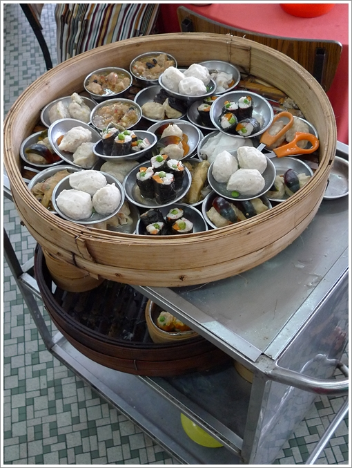 Pushcart with Trays of Dim Sum
