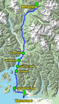 RBC GranFondo Whistler 2010 Map