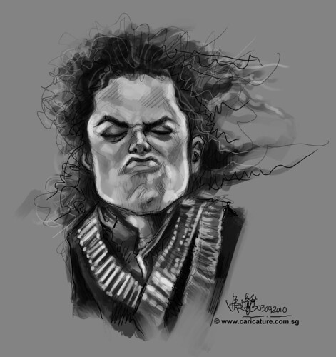 digital sketch of Michael Jackson