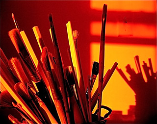 Art studio shadows - I can't live without my art studio!