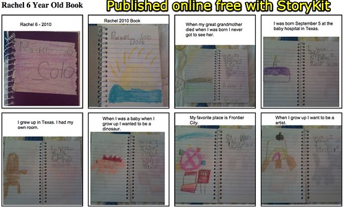 StoryKit Viewer: Rachel 6 Year Old Book