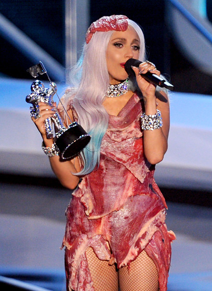 Lady Gaga Meat Dress Mtv VMA