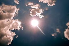 """""""Q"""" The Sun (JD Hancock) Tags: blue sky favorite cloud sun weather clouds photo image picture cc btp onblue jdhancock"""