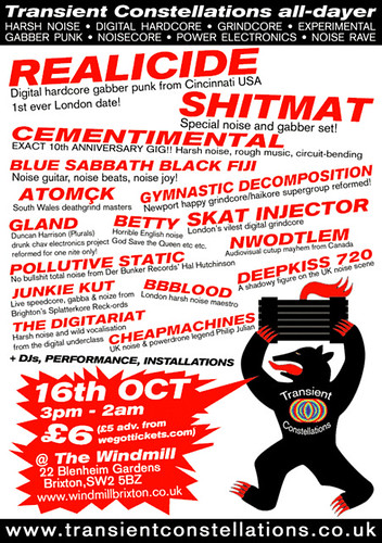 Transient Constellations all-dayer 16th October.
