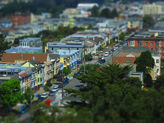 San Francisco Neighborhood (hupspring) Tags: sanfrancisco street trees houses cars buildings miniature neighborhood tiltshift