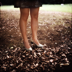 the World's End Girlfriend (TommyOshima) Tags: woman 6x6 tlr square tokyo leg anklet weg