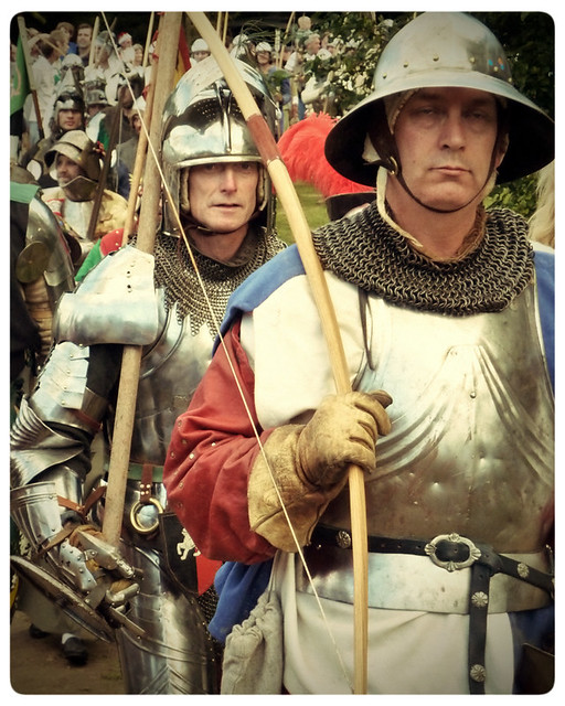 Herstmonceux Medieval Festival ~ marching into battle