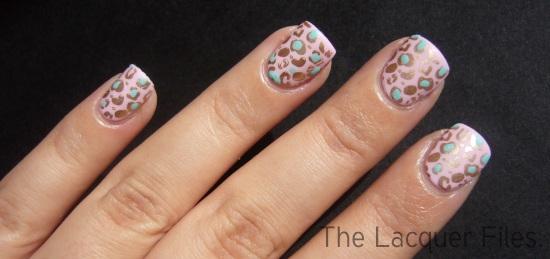 Pastel Leopard Nail Design Nail Art Konad Imageplate M57 Regular Polish Stamping